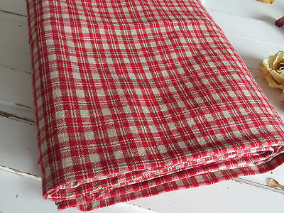 "German  Check Duvet Cover Handwoven  Linen Plaid Fabric Bedlinen 48 "" by 68"""