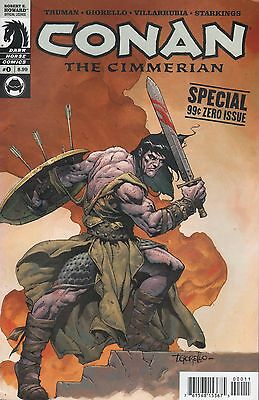 Dark Horse Comics Robert E Howard Conan The Cimmerian Special Issue 0