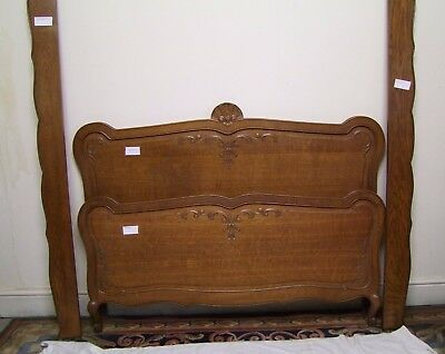 Louis XV Style Vintage French Carved Oak Double Bed Frame (STOBD12)