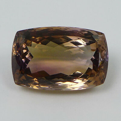 25.17 ct. IF!  Lupenreiner natürl. 21 x 14 mm Bolivien Bi-Color Ametrin