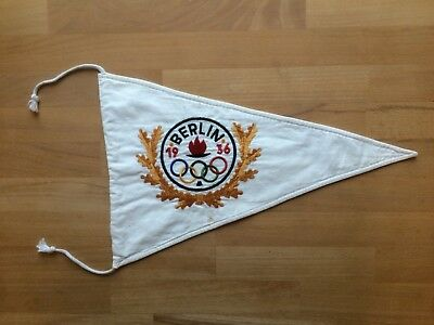 1936 Berlin Olympic Games car pennant genuine Wimpel Olympiade Olympische Spiele
