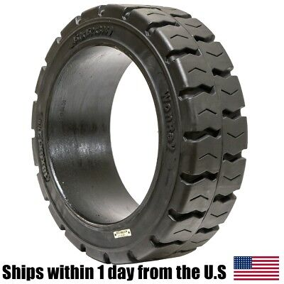 18x6x12.125 18x6x12 1/8 Solid Press-On Traction Forklift Tire 18612