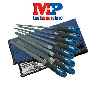 Draper 44961 200mm Soft Grip Engineers File and Rasp Set (8 Piece)