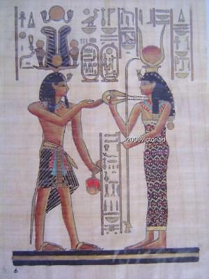New Egyptian Papyrus Hathor Red Gold Black