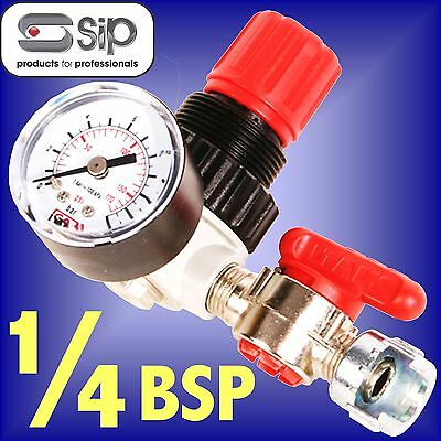 SIP 02070 Micro Air Regulator 1/4 BSP Fitting airline compressor tool line