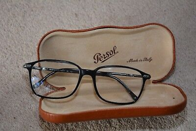 A pair of PERSOL GLASSES with ORIGINAL CASE. Black frames. VGC. Made in Italy