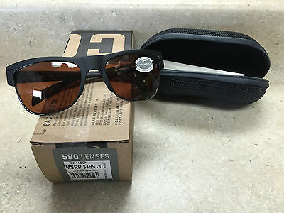 0a8104e53e   New Costa Polarized Pawleys Sunglasses 580P Copper Matte Black  Metal  PW11OCP