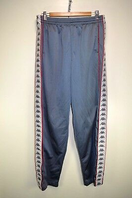 vtg 90s KAPPA POPPER POPPERS TRACK BOTTOMS TRACKSUIT TROUSERS PANTS D8 X-LARGE