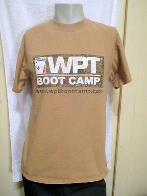 Wpt World Poker Tour Boot Camp Adult T Shirt Distressed Check Raise Grandma Med