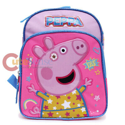 "Peppa Pig Backpack 10"" Toddler Girls Mini Pink Bag Yay"