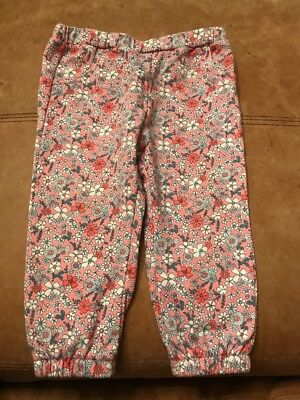Baby Girl Leggings 9-12 Months Floral From Tesco