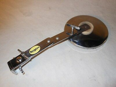 EXCELLENT Vintage 1964 Rogers Model 4439 SWIVOMATIC Clamp-On Bass Drum Muffler