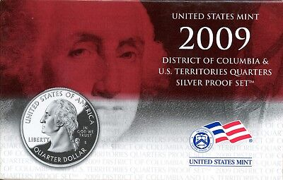 Gorgeous 2009 D.C. and U.S. Territories Quarters Silver Proof Set BF 280