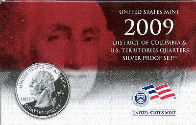 Gorgeous 2009 D.C. and U.S. Territories Quarters Silver Proof Set BF 281