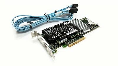 LSI 9750-4i SAS SATA 6Gb/s RAID LP Controller Card w/ Battery & CBL-0281L Cable