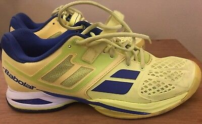 Men's Babolat Propulse Tennis Shoe Yellow Blue Size 9.5