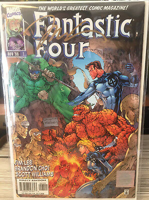 Fantastic Four #1 Signed by Jim Lee Certified Wizard Authentic COA Rare!!!!!!!!!