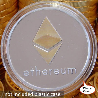 10Pc Silver Plated Commemorative Collectible Golden Iron ETH Ethereum Miner Coin