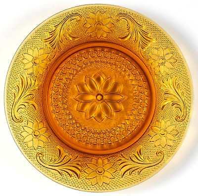Indiana Glass SANDWICH AMBER Luncheon Plate 240069
