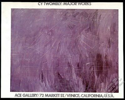 1977 Cy Twombly art Venice gallery show vintage print ad