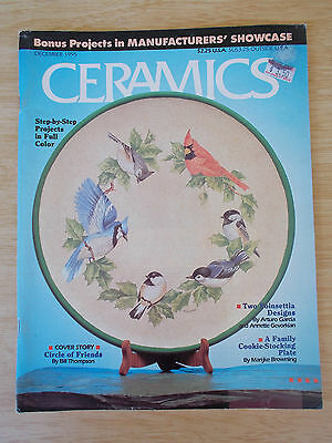Ceramics~USA~Dec 1995~Projects~Xmas~Santa~Birds~Cuitlaxochitl~Stein~Baubles