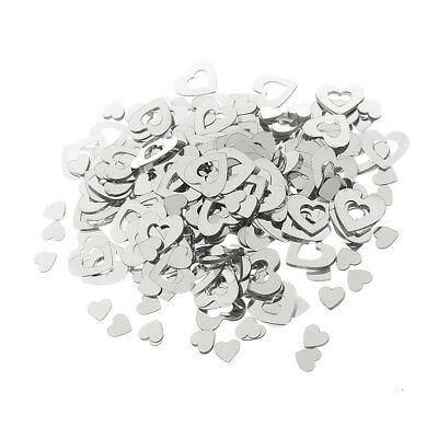 Mixed Heart Wedding Table Confetti Party Decoration Scatter Sprinkles Silver