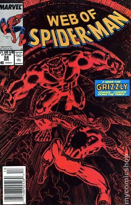 Web of Spider-Man (1st Series) #58 1989 FN Stock Image