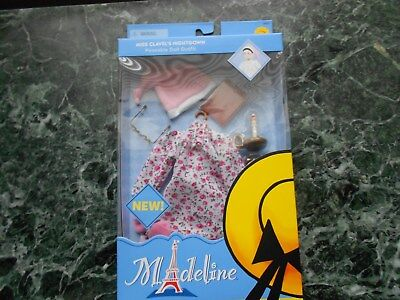 Madeline's Miss Clavel Nightgown Outfit 8 Inch Doll Glasses Candle Nightcap New