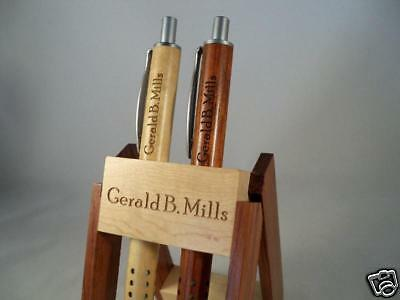 Laser Engraver Personalized Rosewood Pen & Maple Pencil Nice Christmas Gift Set