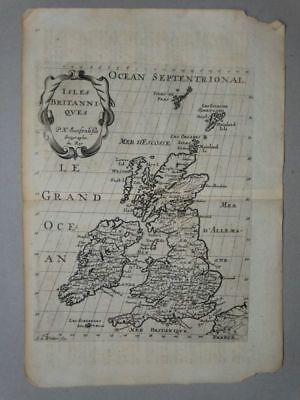 England London Scotland Irland Kupferstich Karte engraving map Sanson Atlas 1683