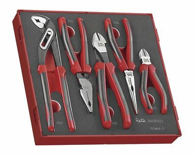 Teng Tools TED441-T 5Pce Pliers Grip Cutters Tool Set + Foam / Case