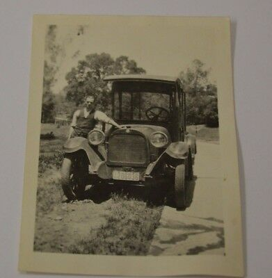 Vintage Early 1900s Antique 1915 Dodge Panel Truck Sacramento CA Photograph Rare
