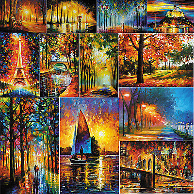 Modern Colourfil Oil Painting Art Canvas Print Wall Home Decor Unframed 70*50cm