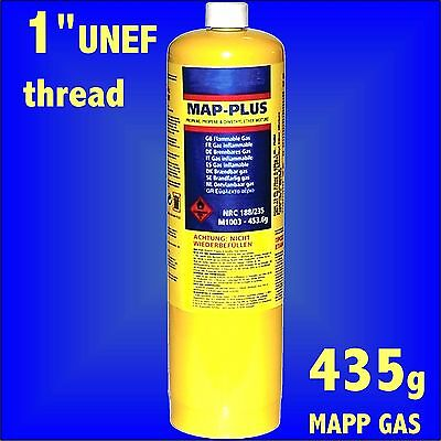 MAPP Map Plus 435g Bottle Disposable Gas Cylinder plumbers torch jet burner