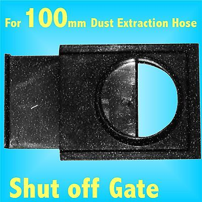 Shut Off Gate Valve 100mm Dust Extraction Hose Charnwood SIP Record extractor