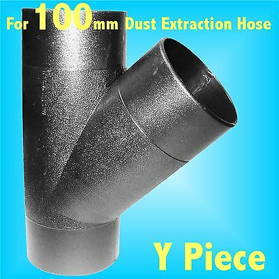 Y Piece Branch for 100mm Dust Extraction Hose Charnwood SIP Record extractor