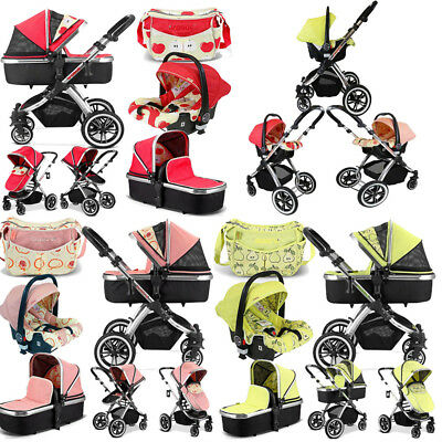 iVogue 3 in 1 Pram System + Changing Bag + Rain Cover - Free & Fast Delivery!