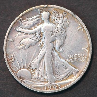 USA Walking Liberty Half Dollar 1943 S (Tray 12)