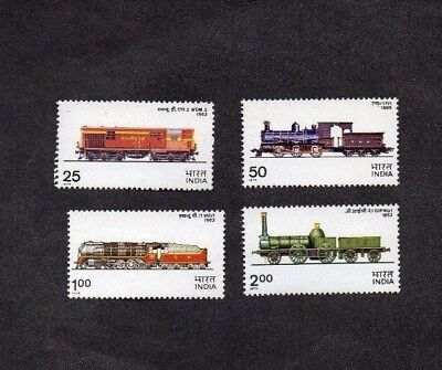 INDIA.1976.INDIAN RAILWAY LOCOMOTIVES.SET OF 4 x DIFF'T STAMPS.MINT NEVER HINGED