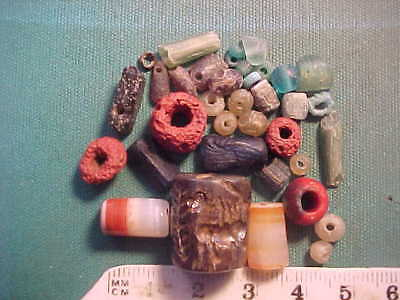 SPECIAL OFFER!! 30+ Ancient beads circa 1000 BC- 700 AD +Sassanian  seal amulet