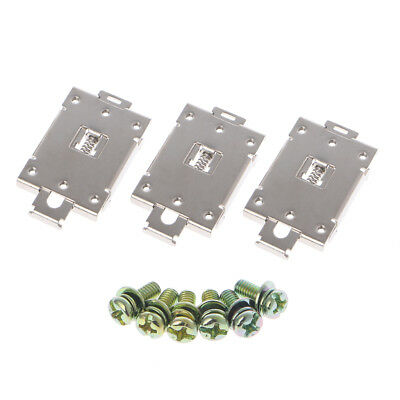3 Pcs Single-phase Solid State Relay 35mm DIN Fixed Rail Mounting Bracket Clamp