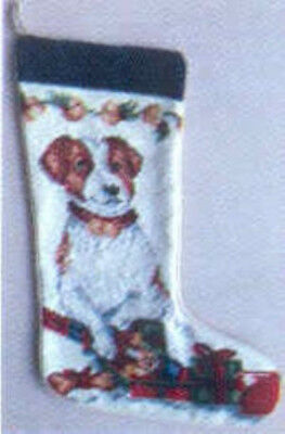 NP Quality JACK RUSSELL TERRIER Needlepoint Christmas Stocking RETIRED