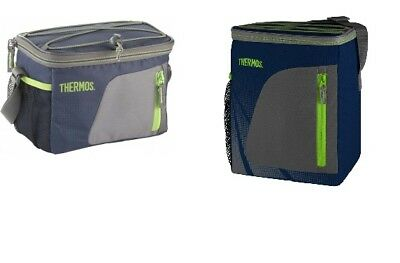 Thermos Insulated Navy Cool Cooler Bag Lunch Box Camping Food Storage