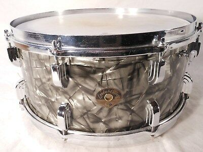 "Vintage 1950 Leedy & Ludwig 6.5x14"" Black Diamond Pearl BROADWAY Snare Drum"