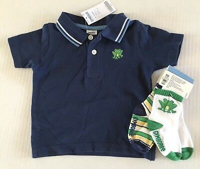 Gymboree Brand New Baby Boys Huggable White Blue Shirt Top Size 18-24 Months NEW