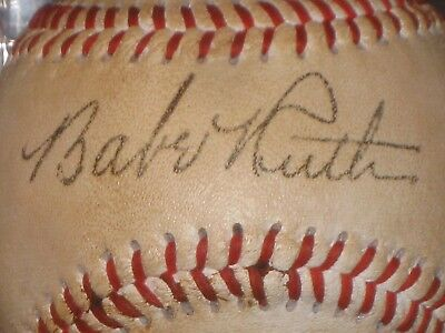 BABE RUTH Signed Baseball New York Yankees Memorabilia Red Lace READ LISTING