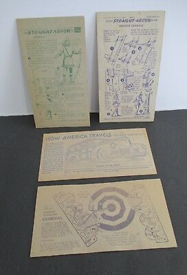 Lot of 4 NABISCO Shredded Wheat Advertising Activity Cards circa 1950