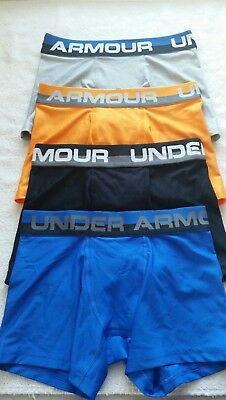 Under Armour Boys Heatgear Boxerjock Briefs. Lot of 4.. Size- Youth Small. #11