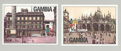 Gambia #875-876 World Cup Soccer 2v S/S Imperf Proofs