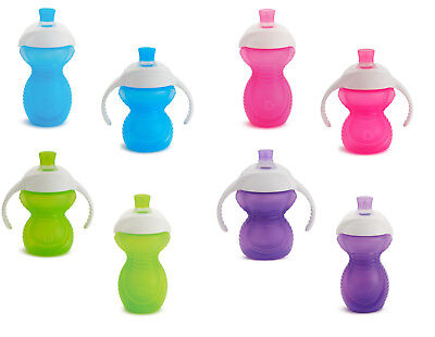 Baby Cup Drinking Click Lock Chew Proof Trainer Anti Spill Munchkin 6m+ New